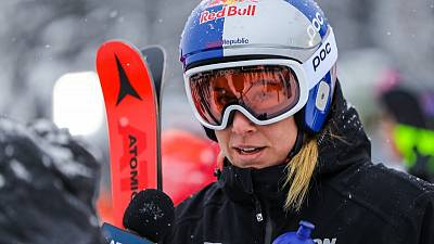 Alpine skiing-Ledecka produces another upset with World Cup downhill win