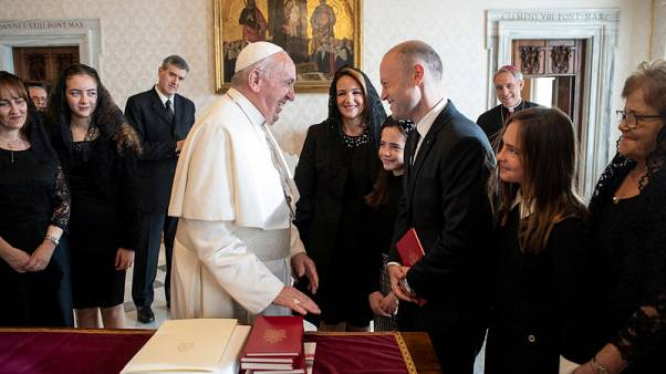 Pope meets with Maltese PM hit by scandal over reporter's murder