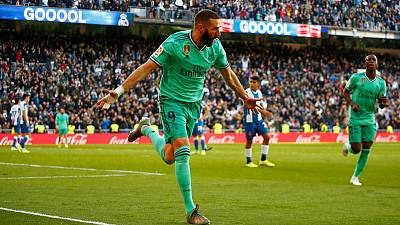 Real Madrid ease past Espanyol to move top of La Liga
