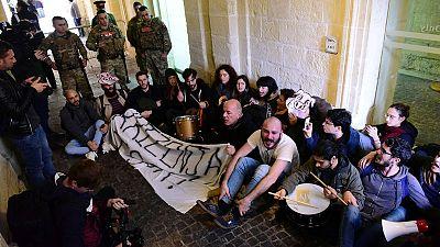 Activists storm into Maltese government HQ demanding PM's resignation
