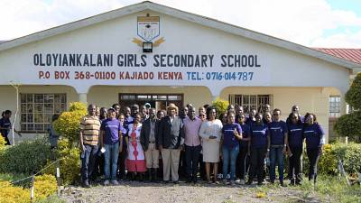General Electric (GE) Employees Volunteer Time and Resources with the Kipeto Wind Farm Community in Kajiado, Kenya