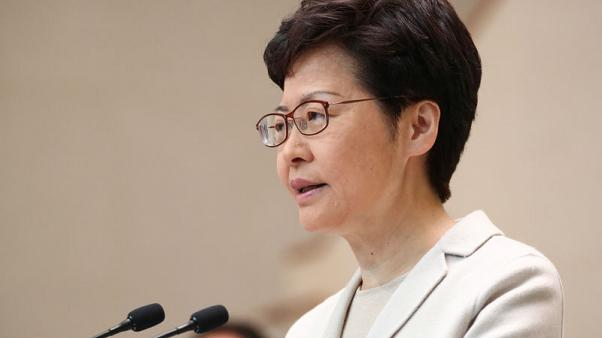Hong Kong leader does not rule out reshuffle, says focus is restoring order