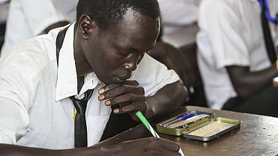 Displaced students sit exams with support from UNMISS (By Francesca Annemarie Mold)
