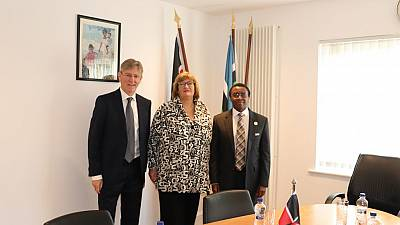 Amb. Michael Mubea, EBS meeting with ELaine Bannon and Matt Potter