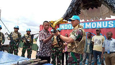 Une vingtaine d'ex-miliciens d'auto-défense se rendent à la Monusco à Kalemie (Par François Xavier Mybe Et Ascain Zigbia-Tayoro)