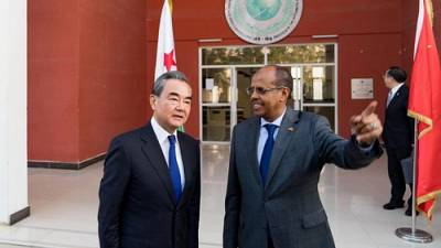 Wang Yi holds talks with Djibouti's Minister for Foreign Affairs and International Cooperation Mahmoud Ali Youssouf