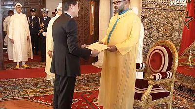l'Ambassadeur extraordinaire et plénipotentiaire de Bulgarie S.E.M. Yuri STERK a présenté ses lettres de créance à Sa Majesté le Roi du Maroc Mohamed VI