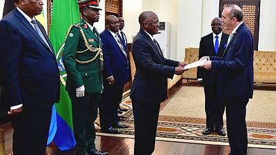 President John Magufuli receives Diplomatic Credentials from Israel