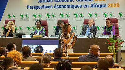 """""""Teach them smart solutions,"""" says out-of-the-box thinker Monique Ntumngia, founder of Green Girls, at 2020 African Economic Outlook launch"""