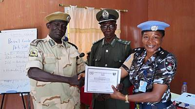 Wau wildlife officers receive first-ever human rights training from UN Police (By Dawit Kahsay Tedla)