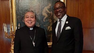 H.E. Ambassador Richard Opembe paid a courtesy call on the Most Reverend Mons. Bernardito C. Auza, Apostólic Nuncio and Dean of the Diplomatic Corps