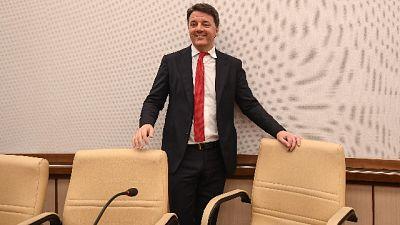 Renzi assente al voto fiducia in Senato