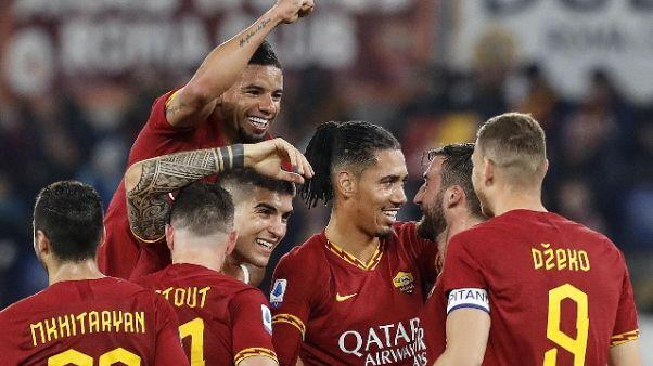 Serie A: 4-0 al Lecce, Roma torna a vincere