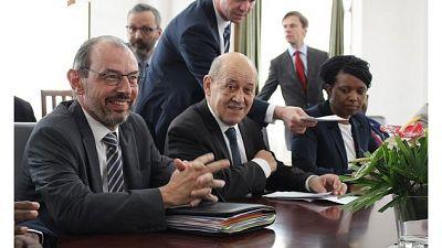 Visite de Jean-Yves Le Drian, Ministre de l'Europe et des Affaires étrangères