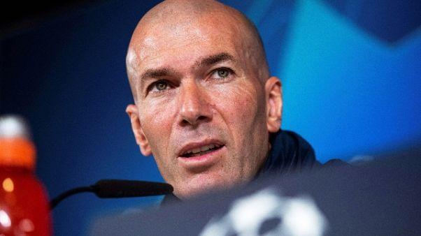 """Champions: Zidane omaggia Guardiola """"per me è il numero 1"""""""