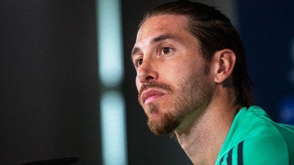 """Champions: Ramos """"per noi è speciale,basta inno a motivarci"""""""