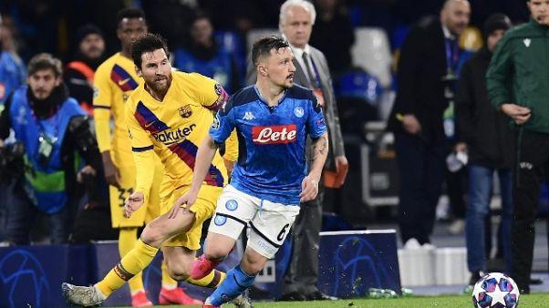 Champions: Napoli-Barcellona 1-1
