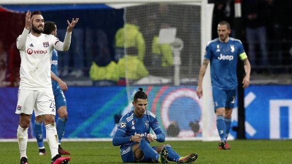 Champions: Lione-Juventus 1-0