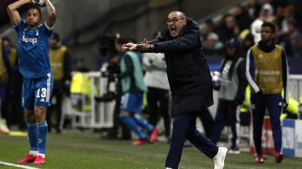 Champions: Sarri, in Italia ci avrebbero dato due rigori
