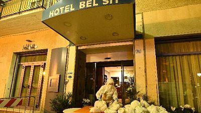 Dodici trasferiti da hotel Alassio