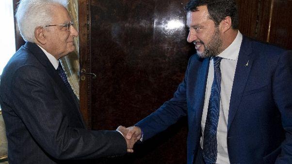 Salvini a Mattarella,far ripartire Paese