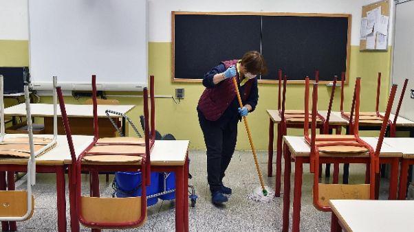 Coronavirus: chiuse scuole in 4 Comuni