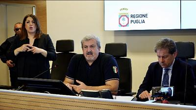 Emiliano, non portate in Puglia epidemia
