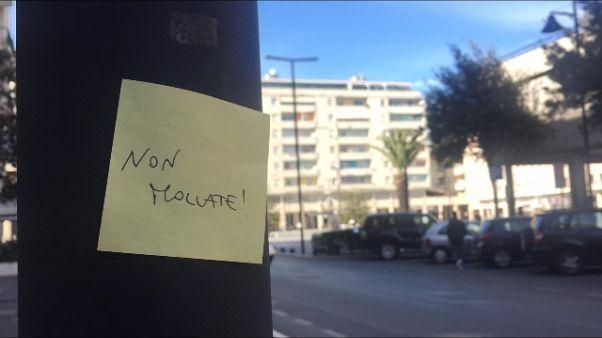 Post-it scaccia panico a Pescara