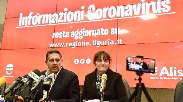 Coronavirus,9 morti Liguria,101 positivi