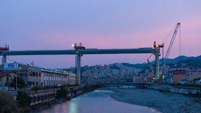 Ponte, presto campata sopra ferrovia