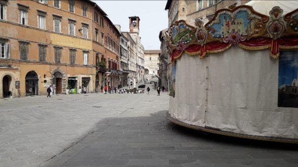A Perugia notte con scenario coprifuoco