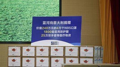 Coronavirus, da Cina 4 tonnellate Dpi