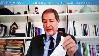 Musumeci, da Roma panni e non mascherine