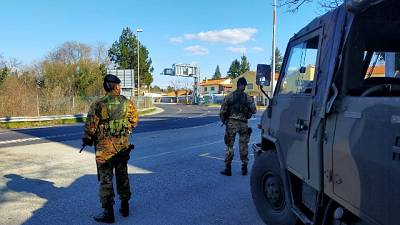 Controlli militari a confine Slovenia