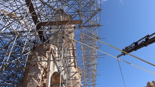 Si ferma cantiere Basilica di Norcia