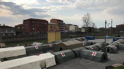 Esercito a supporto Ospedale Piacenza