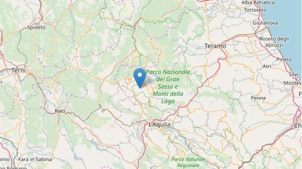 Terremoti: scossa 3.5 nell'Aquilano