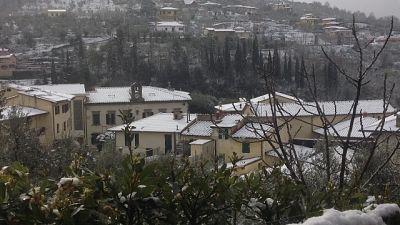Prot.civile Firenze, neve anche collina