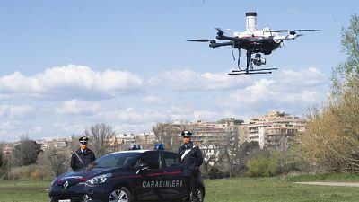 Drone dei Carabinieri su Scampia