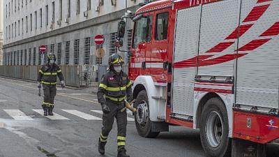 In fiamme piano Palagiustizia a Milano