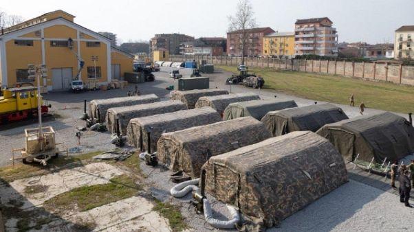 Collegato ospedale da campo Piacenza