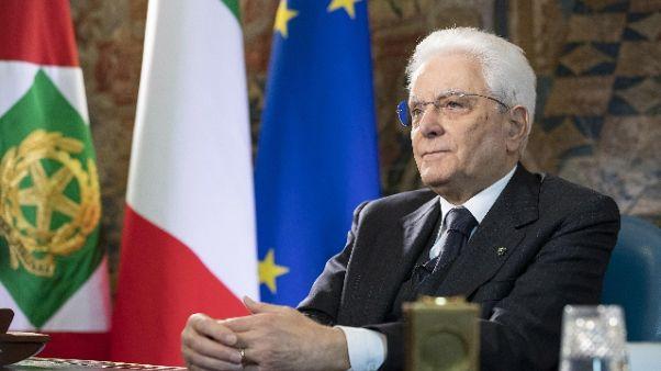 Mattarella, orgoglioso di quest'Italia