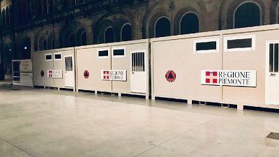 Coronavirus: alle Ogr di Torino i primi moduli prefabbricati