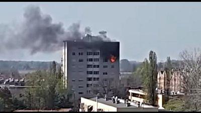 Vasto incendio nel Bolognese