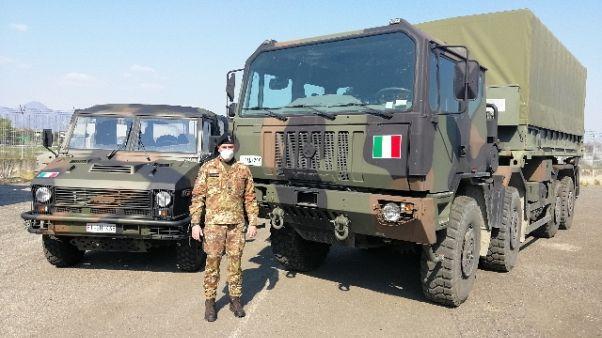 Squadra italo-russa sanifica rsa Bergamo