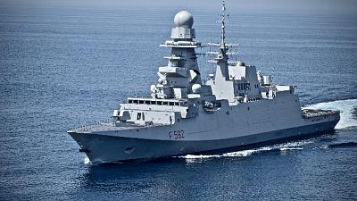 Tre positivi sulla fregata Margottini