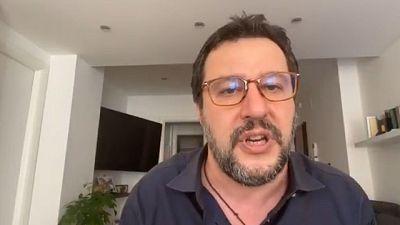Salvini, Conte si vede solo in tv