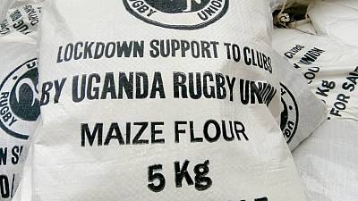Uganda Rugby Union Donates Food to Players