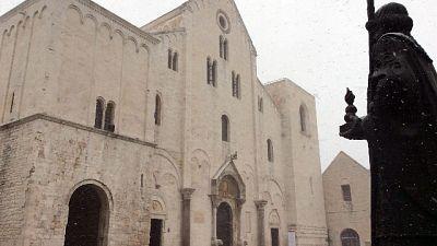 Basilica chiusa a Bari per San Nicola