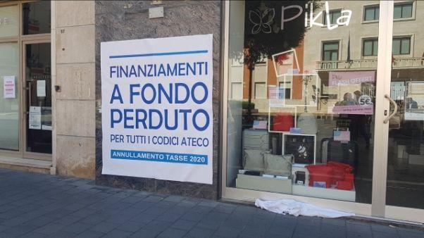 Protesta commercianti a Crotone